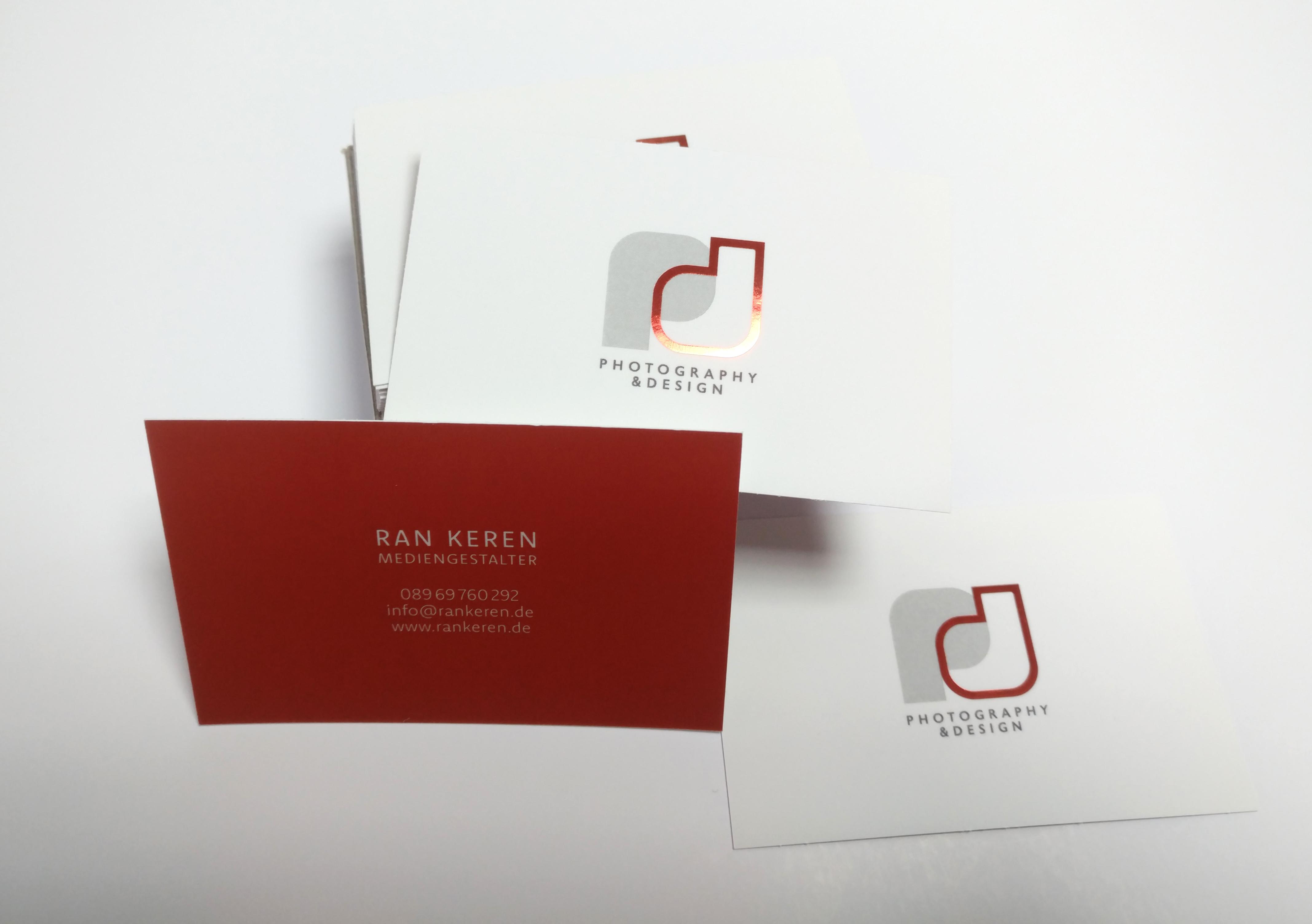 Visitenkarten mit Softtouch + Sleeking